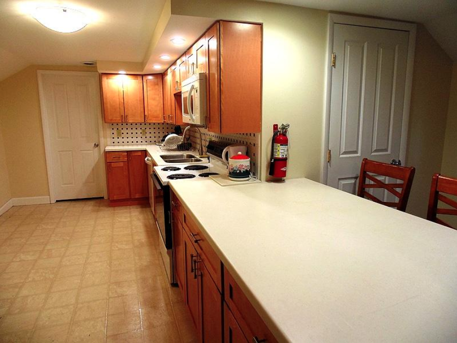 student apartments near suny cortland image of kitchen counter space and oven from sap properties
